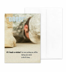 If I Had - US Army Military Appreciation Encouragement Greeting Card - by 2MyHero