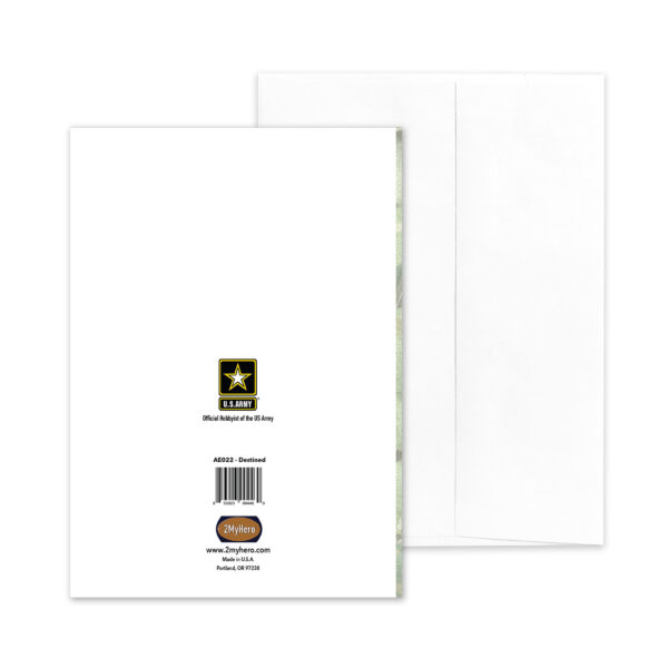 Destined - US Army Military Appreciation Encouragement Greeting Card - by 2MyHero