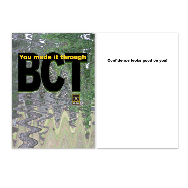 BCT Confidence - US Army Military Appreciation Encouragement Greeting Card - by 2MyHero