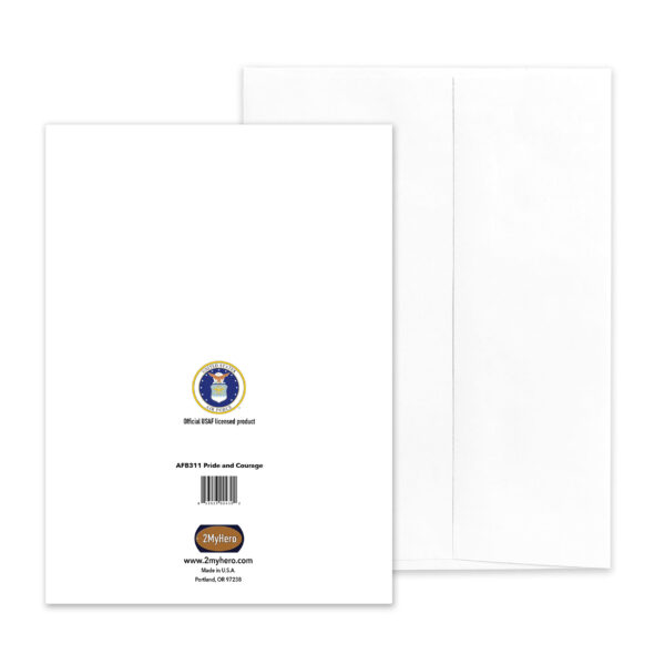 US Air Force Happy Birthday greeting card with envelope - Pride and Courage - by 2MyHero