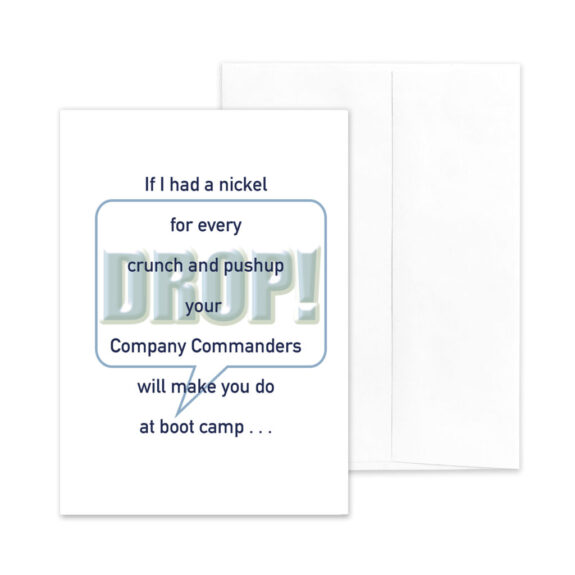 If I Had - US Coast Guard Boot Camp Military Appreciation Greeting Card With Envelope - by 2MyHero