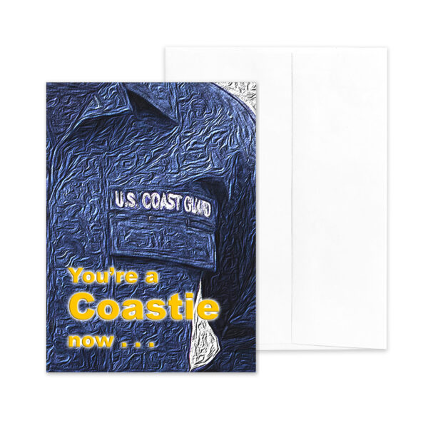 A Coastie Now - US Coast Guard Military Graduation Greeting Card - by 2MyHero