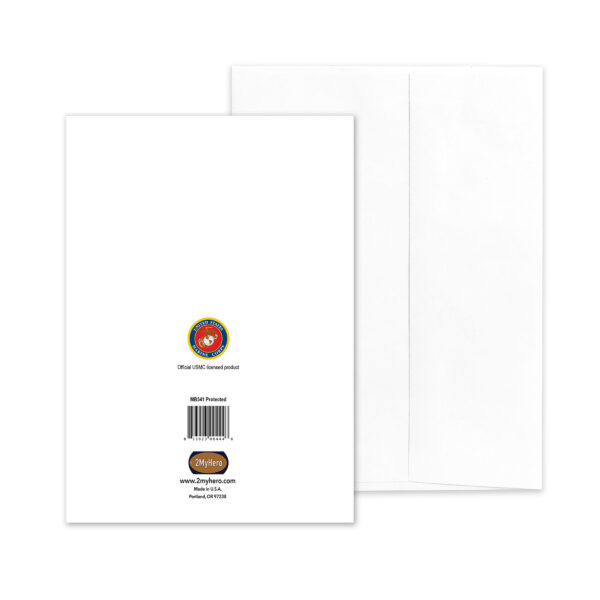 Protected Birthday - USMC military birthday congratulations greeting card and envelope - by 2MyHero