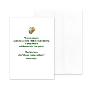 Reagan Quote on White - US Marine Corps Military Appreciation and Encouragement Greeting Card by 2MyHero