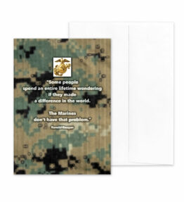Reagan Quote on Digi - US Marine Corps Military Appreciation and Encouragement Greeting Card by 2MyHero
