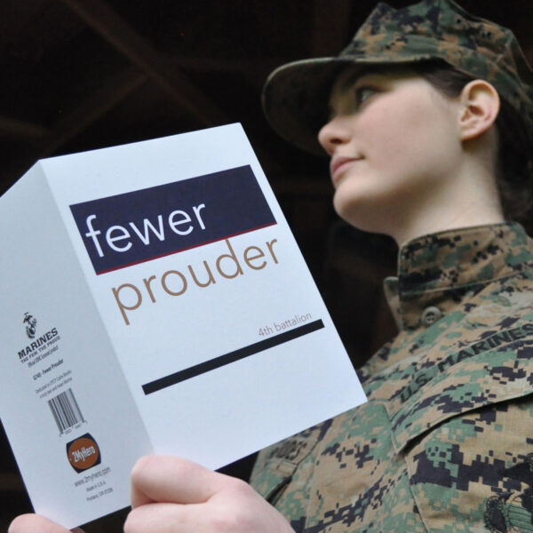 Fewer Prouder - military greeting card for US Marine Corps female Marines by 2MyHero