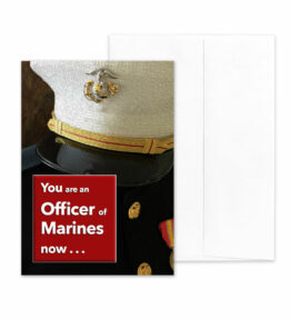 An Officer Now - US Marine Corps Military Graduation Congratulations Greeting Card by 2MyHero