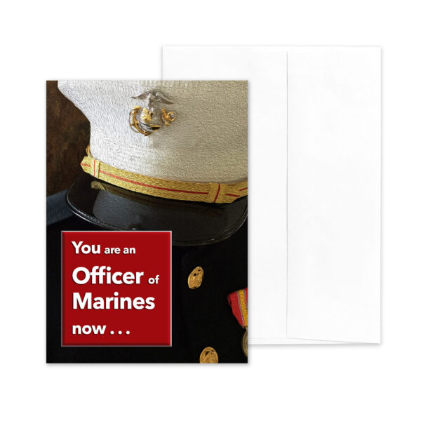 An Officer of Marines - US Marine Corps Military Graduation Congratulations Greeting Card by 2MyHero