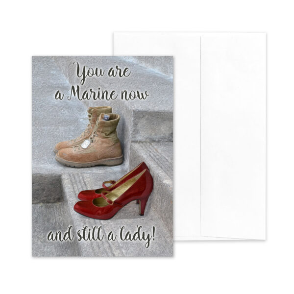 Still a Lady - US Marine Corps Military Appreciation Greeting Card for Female Marines - by 2MyHero