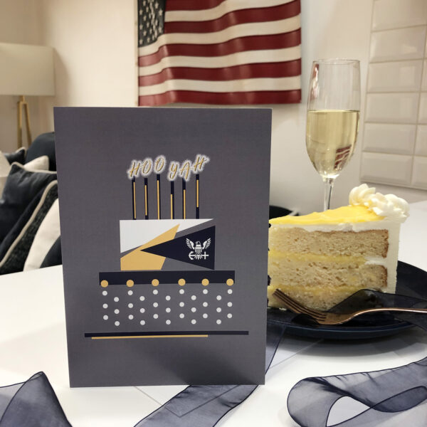 US Navy Congratulations to Sailors military greeting card with envelope - Celebration Cake - by 2MyHero
