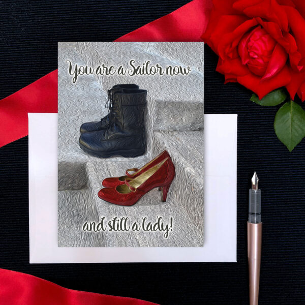 Still a lady - military greeting card for US Navy female Sailors by 2MyHero