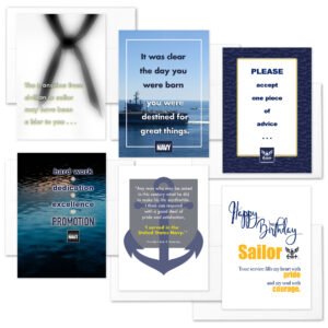 Transition - Mixed pack of 6 military appreciation boot camp graduation greeting cards - including envelopes - by 2MyHero