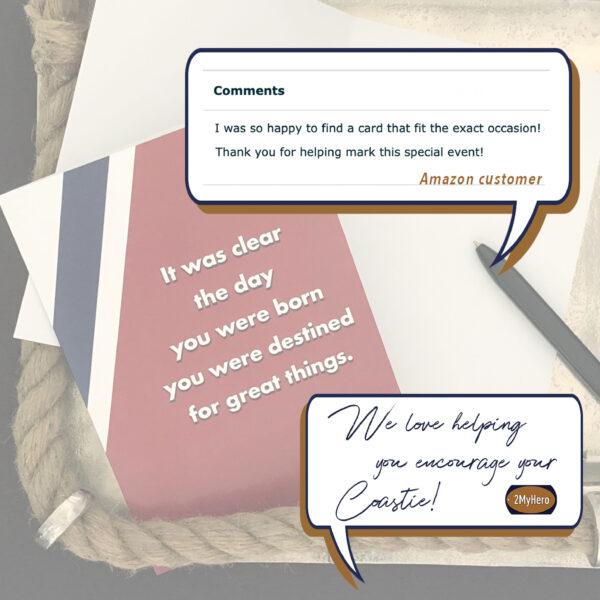 Destined - US Coast Guard military appreciation encouragement greeting card - by 2MyHero