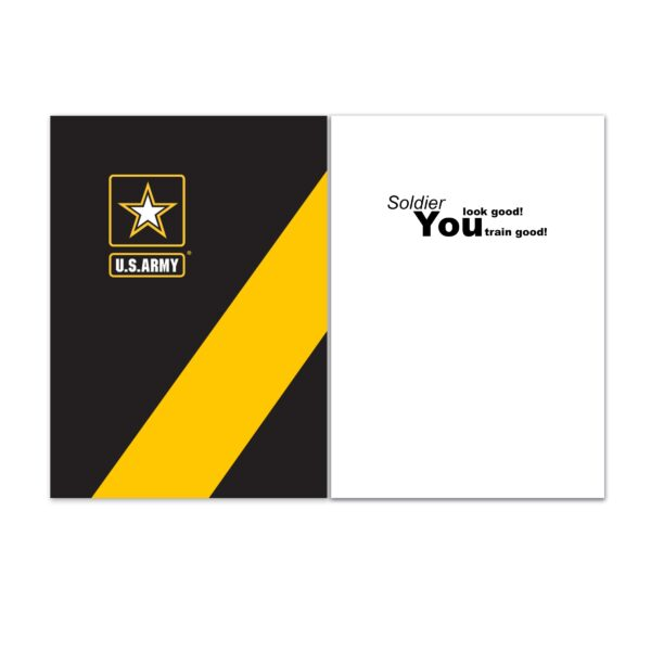 Look Good - (Sentiment Inside) - US Army Military Appreciation Encouragement Greeting Card - by 2MyHero