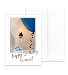 Airman Style Birthday - US Air Force Military Appreciation Birthday Greeting Card - by 2MyHero