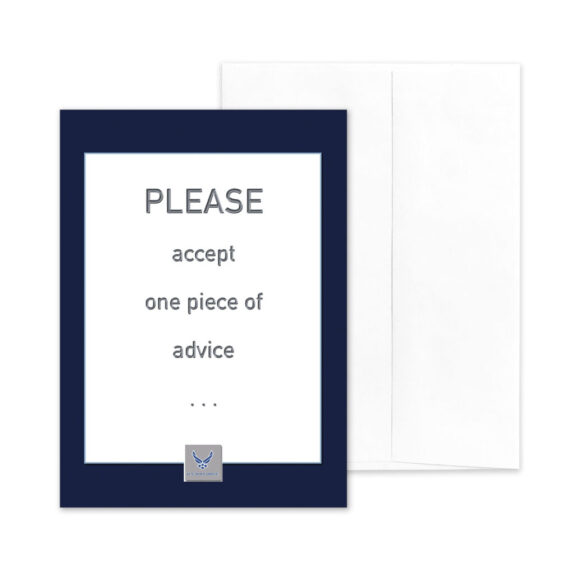Advice - US Air Force Military Appreciation Encouragement Greeting Card - by 2MyHero