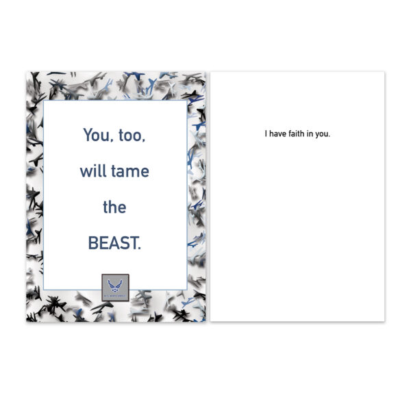 Tame The BEAST - US Air Force Military Encouragement Greeting Card by 2MyHero