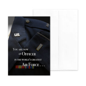 An Officer Now - US Air Force Military Graduation Congratulations Greeting Card by 2MyHero