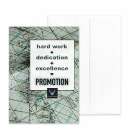Promotion Equation - US Air Force Military Promotion Congratulations Greeting Card for Airmen - Includes Envelope - by 2MyHero