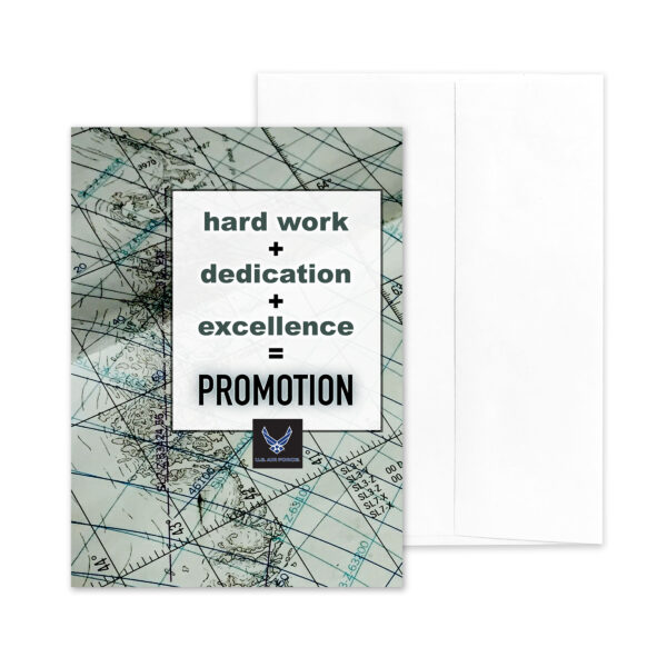 PromoAirman Promotion Equation - US Air Force Military Promotion Congratulations Greeting Card for Airmen - Includes Envelope - by 2MyHero Equation - US Air Force Military Promotion Congratulations Greeting Card for Airmen - Includes Envelope - by 2MyHero