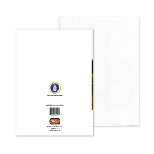 Steeper Climb - US Air Force Military Promotion Congratulations Greeting Card for Marines - includes envelope - by 2MyHero
