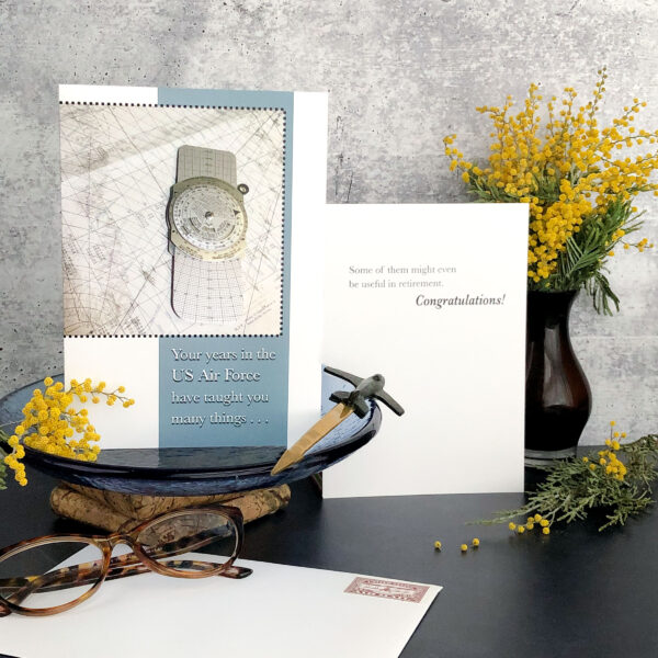 Your Years Airman - USAF Humorous Military Retirement Congratulations Greeting Card for Airmen - includes envelope - by 2MyHero