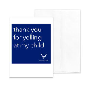 Yelling - US Air Force Military Encouragement Greeting Card by 2MyHero