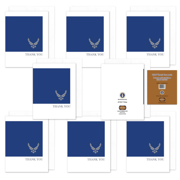 2MyHero US Air Force Thank You pack of notecards 8 blank note cards and 8 envelopes