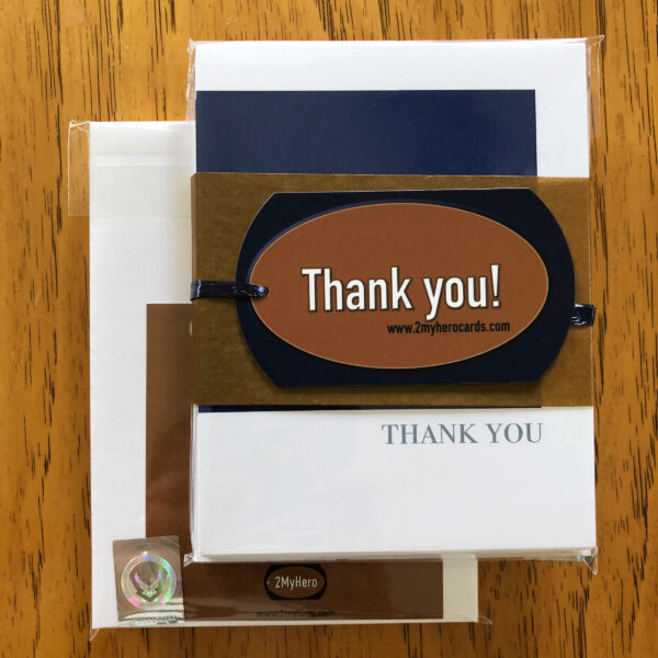 2MyHero US Air Force Thank You pack of notecards 8 blank notecards and 8 envelopes