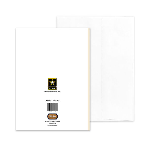 Trust Me - US Army Military Retirement Congratulations Greeting Card for Soldiers - includes envelope - by 2MyHero