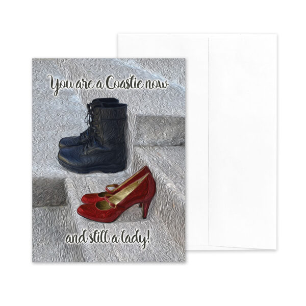 Still a Lady - US Coast Guard Military Encouragement Greeting Card for Female Coasties - by 2MyHero