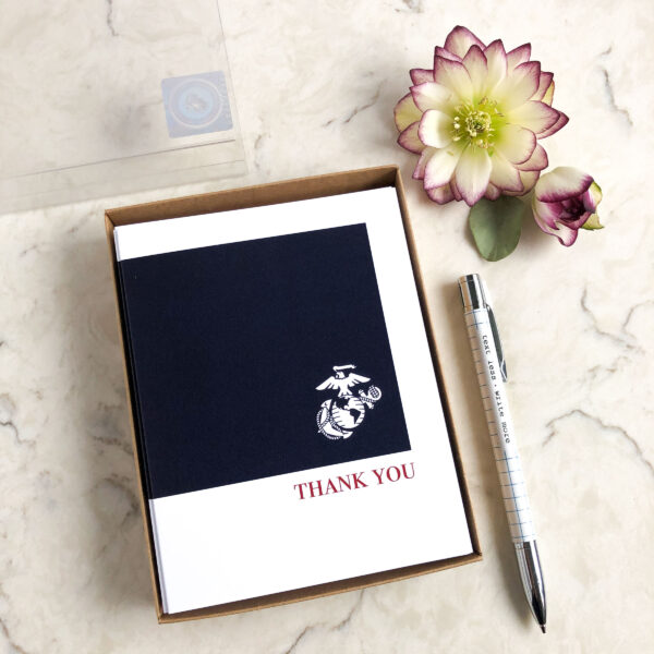 2MyHero USMC Thank You box of notecards 15 blank note cards and 15 envelopes