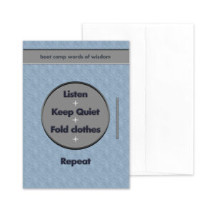 Repeat - US Navy boot camp encouragement greeting card - by 2MyHero