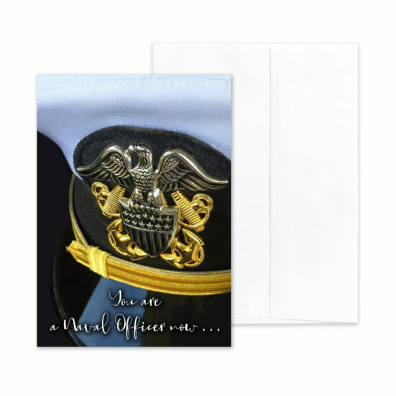 An Officer Now - US Navy Military Graduation Greeting Card by 2MyHero