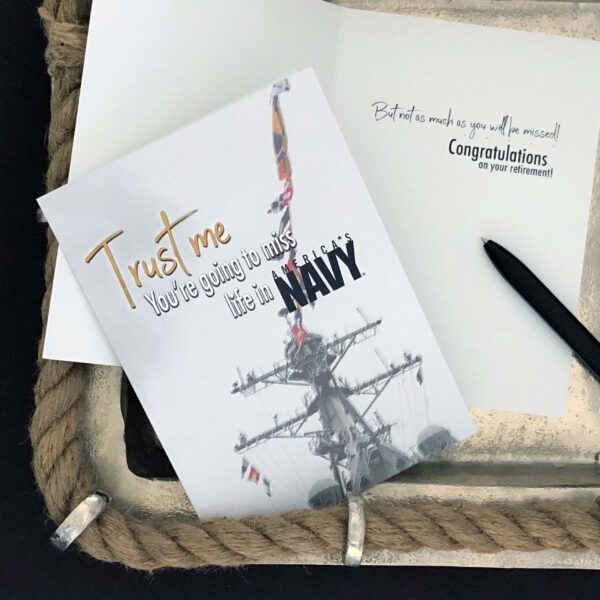Trust Me - US Department of the Navy Military Retirement Congratulations Greeting Card for Sailors - includes envelope - by 2MyHero