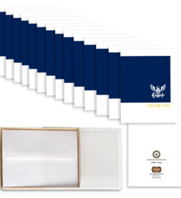 2MyHero - US Navy Thank You box of notecards 15 blank note cards and 15 envelopes