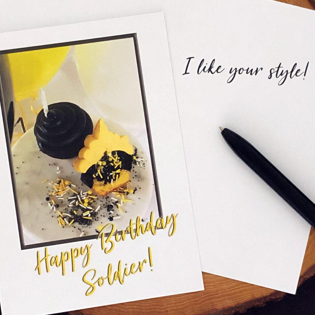 Style - US Army Military Appreciation Birthday Greeting Card - by 2MyHero