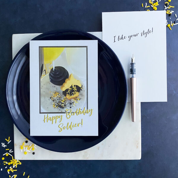 Soldier Style - US Army Military Appreciation Birthday Greeting Card - by 2MyHero