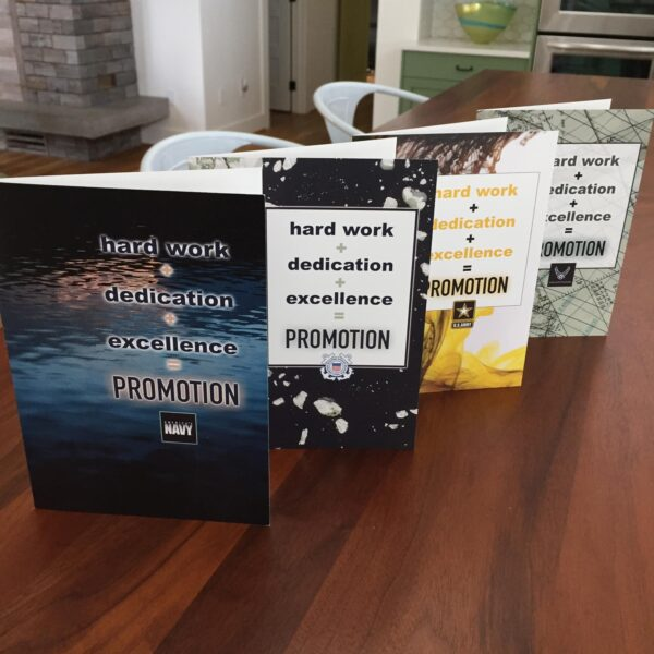 Promotion Equation - US Air Force, US Coast Guard, US Navy and US Army Military Promotion Congratulations Greeting Card for Airmen - Includes Envelope - by 2MyHero