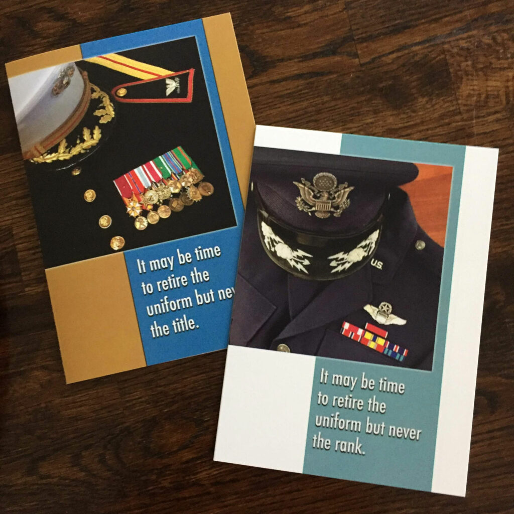 2MyHero military greeting cards, MRE Remix, US Marine Corps and US Air Force Retirement cards
