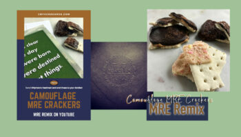 2MyHero military greeting card blog header - Camouflage MRE Crackers