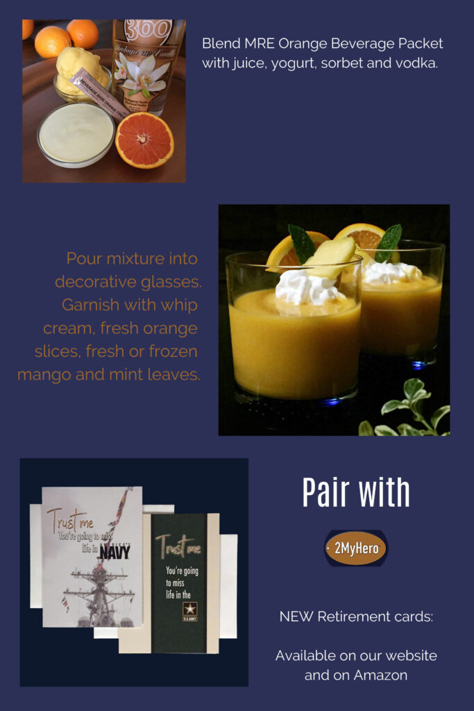 2MyHero military greeting cards - MRE Remix Citrus Fruit MREeze recipe card