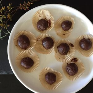 Chocolate Peanut Butter Truffles - 2MyHero MRE Remix