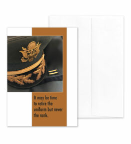 Retire the Uniform - US Army Military Retirement Congratulations Greeting Card for Soldiers - includes envelope - by 2MyHero
