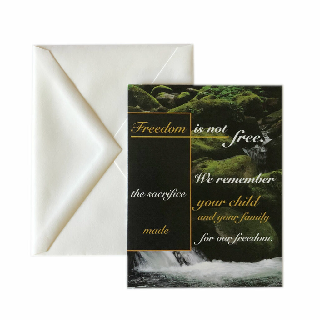 2MyHero Military Sympathy Mixed Pack of greeting cards 20% off on Etsy and Amazon