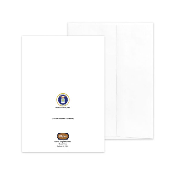 Veteran's Day Military Appreciation Greeting Card - US Air Force - Vietnam Thank You - by 2MyHero