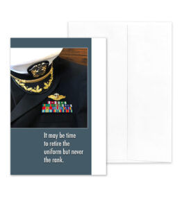Retire the Uniform - US Department of the Navy Military Retirement Congratulations Greeting Card for Sailors - includes envelope - by 2MyHero