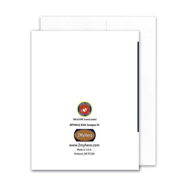 2MyHero US Marine Corps Semper Fi box of notecards 15 blank note cards and 15 envelopes