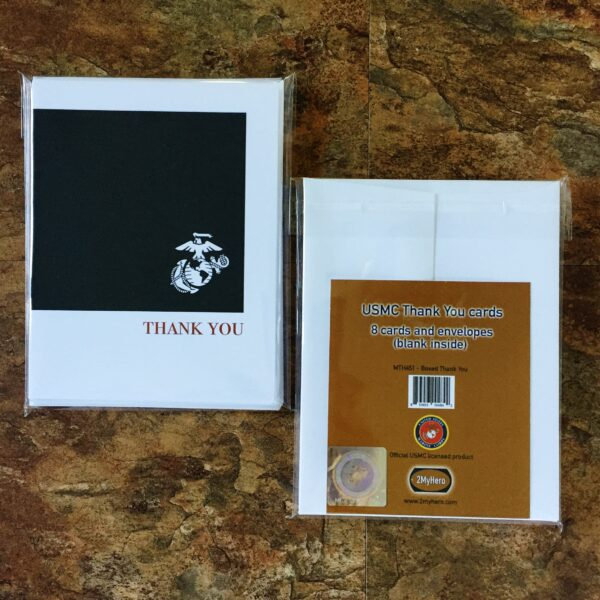 US Marine Corps Thank You pack of notecards 8 blank note cards and 8 envelopes by 2MyHero