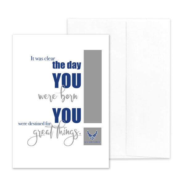 Destined - US Air Force military appreciation encouragement greeting card - by 2MyHero